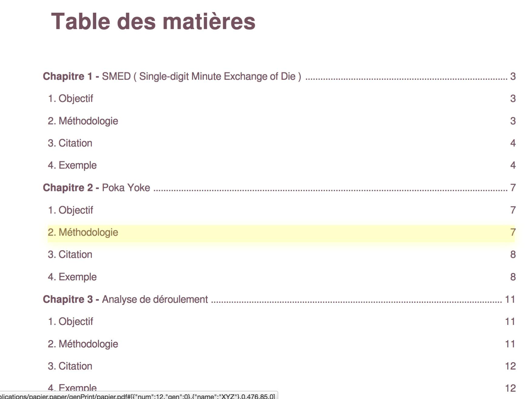 Choisir Les Niveaux D Un Sommaire Optimoffice Forums